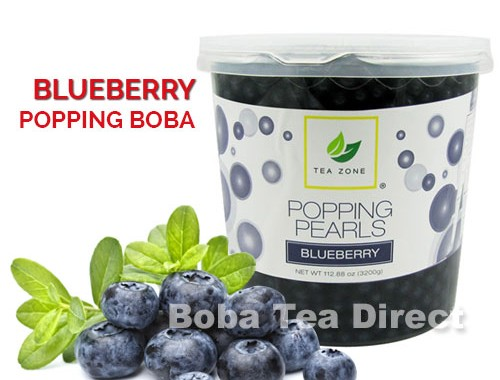 blueberry popping bursting boba balls