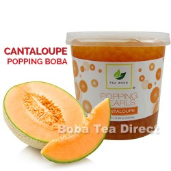 cantaloupe popping bursting boba balls