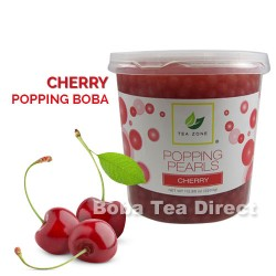 cherry popping bursting boba balls