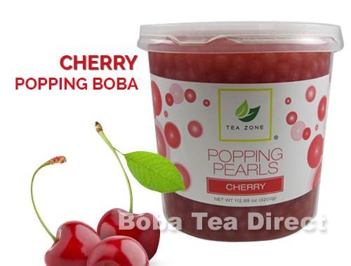 cherry popping bursting boba balls