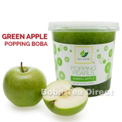 green apple popping bursting boba