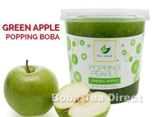 green apple popping bursting boba