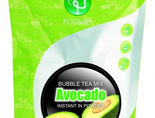 avocado boba bubble tea powder mix