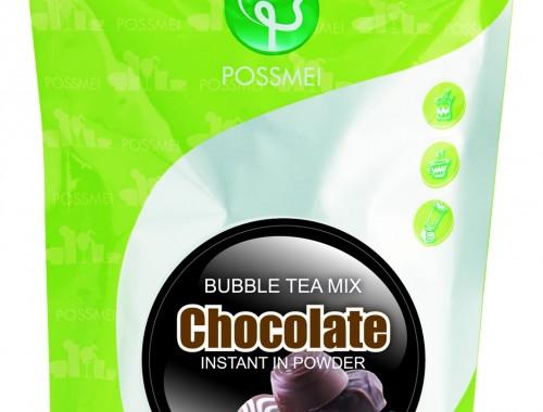 chocolate boba bubble tea powder mix