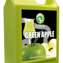 green apple boba bubble tea syrup juice