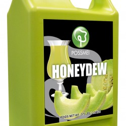 honeydew boba bubble tea syrup juice