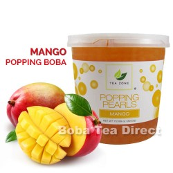 mango popping bursting boba balls
