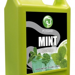 mint boba bubble tea syrup juice