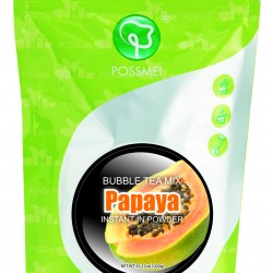 papaya boba bubble tea powder mix
