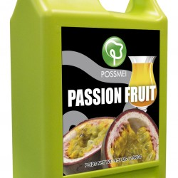 passion fruit boba bubble tea syrup juice