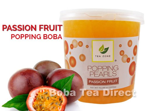 passion fruit popping bursting boba balls