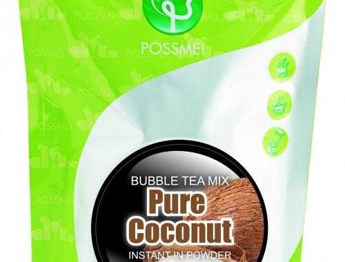 pure coconut boba bubble tea powder mix