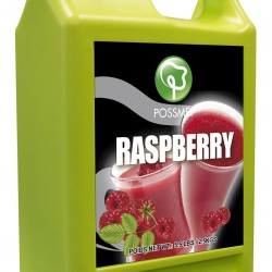 raspberry boba bubble tea syrup juice