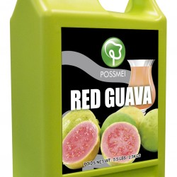 red guava boba bubble tea syrup juice