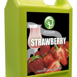strawberry boba bubble tea syrup juice