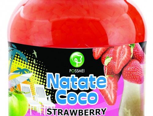 strawberry boba bubble tea jelly