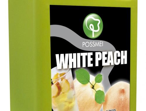 white peach boba bubble tea syrup juice