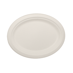 10x8 Bagasse oval plates