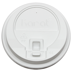 Karat 10-24oz Enclosure Lids- White (90mm)