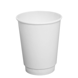 Karat 12oz Insulated Paper Hot Cups - White (90mm)