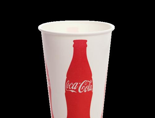 Karat 16oz Paper Cold Cups - Coca Cola (90mm)