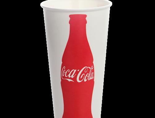 Karat 22oz Paper Cold Cups- Coca Cola (90mm)