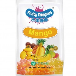 Mango fruity poppers popping bursting boba pouch
