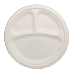 Round Plate 9 Inch Compartments