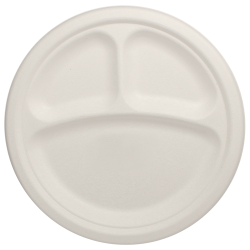 Round plates 10 inch-3 compartments