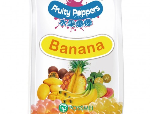 banana fruity popper popping bursting boba pouch