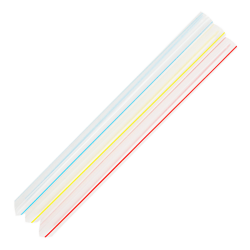 bubble tea straws in assorted colors