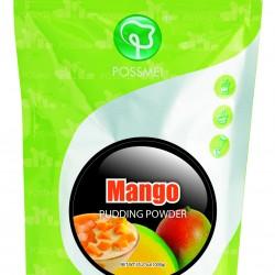 mango pudding powder boba bubble tea