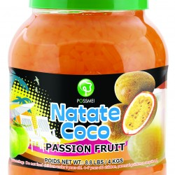 passion fruit boba bubble tea jelly