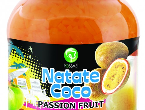 passion fruit boba bubble tea jelly