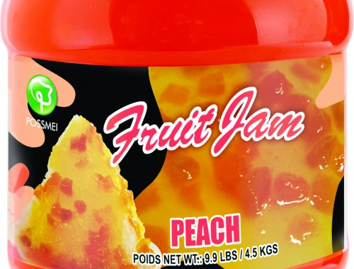 peach boba bubble tea jam