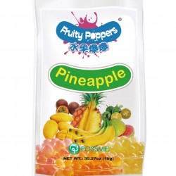 pineapple fruity poppers popping bursting boba pouch