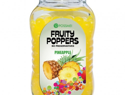 pineapple fruity poppers popping boba small jar