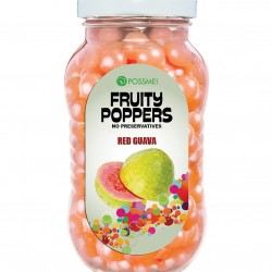 red guava fruity poppers popping boba small jar