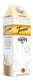 torani real cream frappe base
