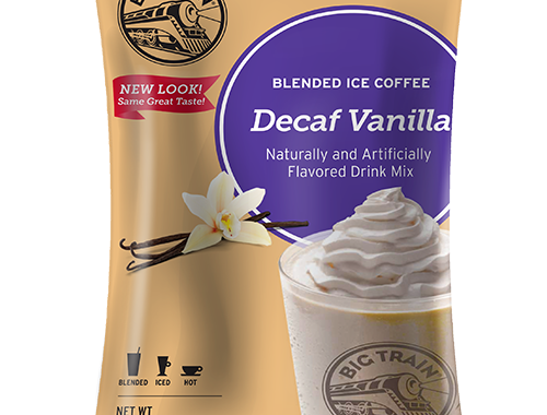 Big Train Decaf Vanilla Blended Ice Coffee Mix
