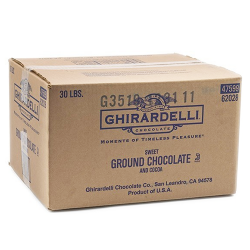 Box sweet ground chocolate