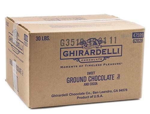 Box sweet ground chocolate