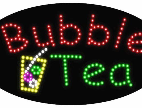 Bubble Tea LED Sign (11.75 x 23.5)
