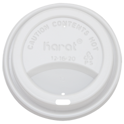 Karat 10-24oz Sipper Dome Lids - White (90mm)
