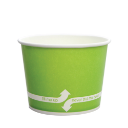 Karat 12oz Hot Cold Paper Food Containers - Green (100mm)