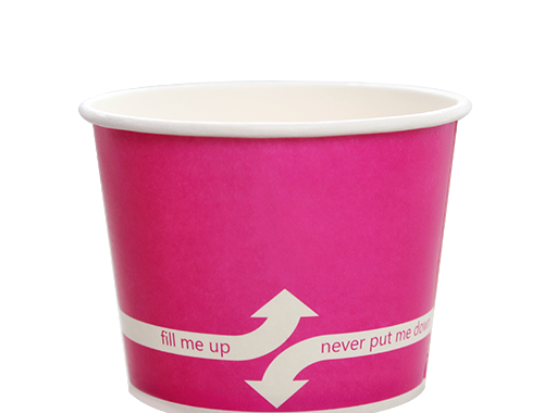 Karat 12oz Hot Cold Paper Food Containers - Pink (100mm)