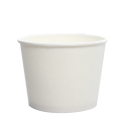 Karat 12oz Hot Cold Paper Food Containers - White (100mm)
