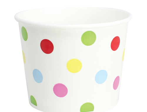 Karat 16oz Hot Cold Paper Food Containers - Dots (112mm)