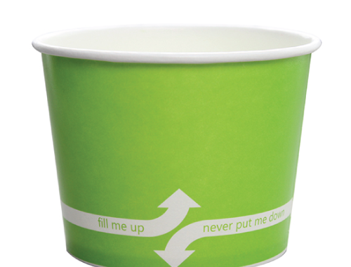 Karat 16oz Hot Cold Paper Food Containers - Green (112mm)