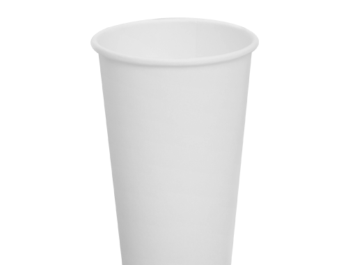 Karat 16oz Paper Hot Cups - White (90mm)